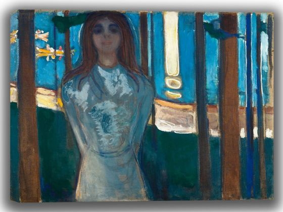 Munch, Edvard: The Voice, Summer Night. Fine Art Canvas. Sizes: A4/A3/A2/A1 (0086)